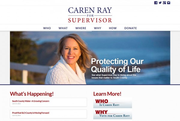 elect-caren-ray-website-design