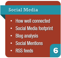 website audit - social media footprint