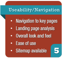 website audit - Useability & Navigation